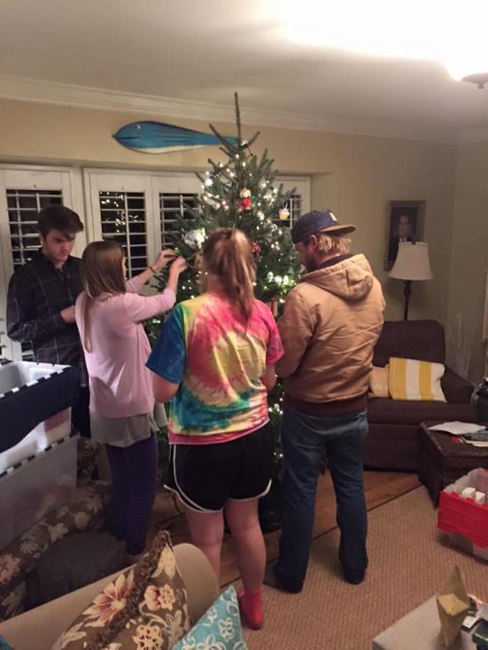 decorating tree